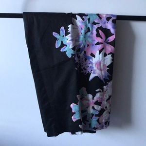 Floral work skirt WITH POCKETS
